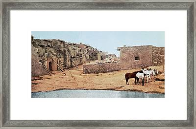 Sky City Acoma Pueblo Framed Print by William Henry Jackson