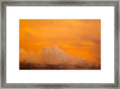 Sky Fire 001 Framed Print by Tony Grider