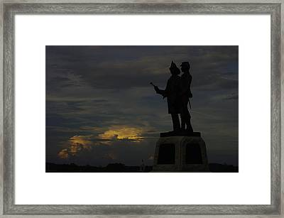 Sky Fire - 73rd Ny Infantry 4th Excelsior 2nd Fire Zouaves - Summer Evening Thunderstorms Gettysburg Framed Print by Michael Mazaika