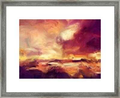 Sky Fire Abstract Realism Framed Print by Georgiana Romanovna