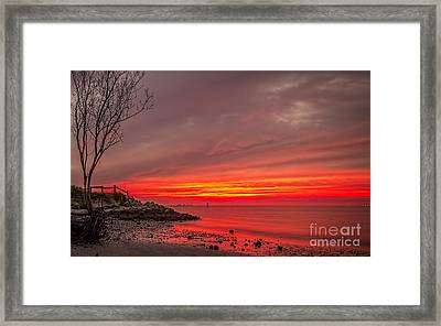 Sky Fire Framed Print by Marvin Spates