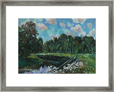 Sky In The River Framed Print by Juliya Zhukova