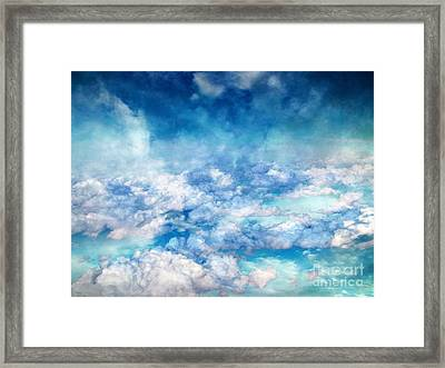 Sky Moods - A View From Above Framed Print by Glenn McCarthy