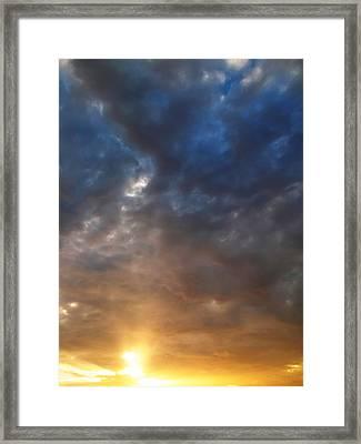 Sky Moods - Contemplation Framed Print by Glenn McCarthy