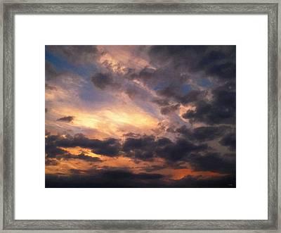 Sky Moods - Depth Framed Print by Glenn McCarthy
