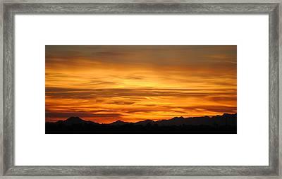 Sky On Fire Framed Print by Edward Curtis