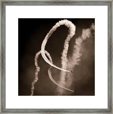Sky Pas De Duex Framed Print by Christy Usilton