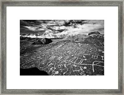 Sky Rock Framed Print by Cat Connor
