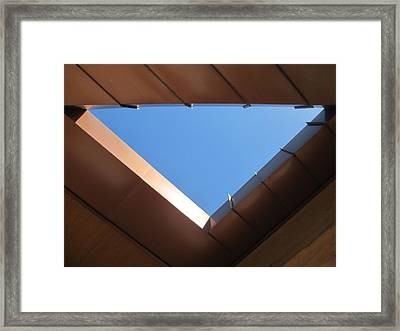 Sky Triangle Framed Print by Randall Weidner