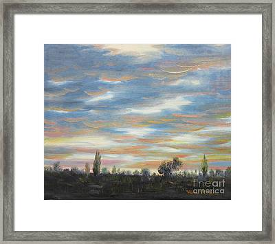 Sky Framed Print by Vesna Martinjak