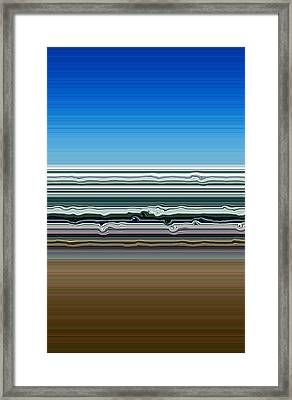 Sky Water Earth Framed Print by Michelle Calkins