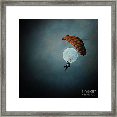 Skydiver's Moon Framed Print by Trish Mistric