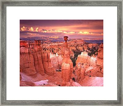 Skylight Over Bryce Framed Print by Ray Mathis