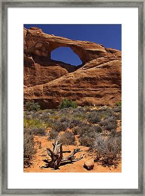 Skyline Arch - Arches National Park Framed Print by Mike McGlothlen