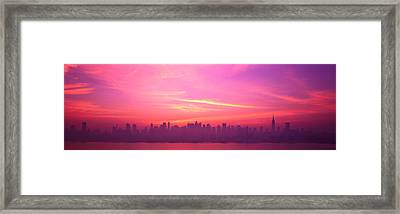 Skyline, Nyc, New York City, New York Framed Print by Panoramic Images