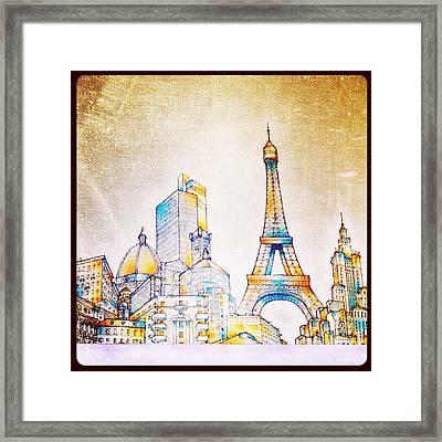 Skyline Of The World Framed Print by Natasha Marco