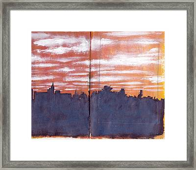 Skyline Sunset Framed Print by Chad Brown
