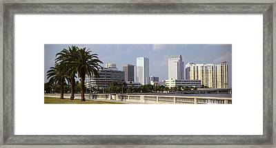 Skyline Tampa Fl Usa Framed Print by Panoramic Images