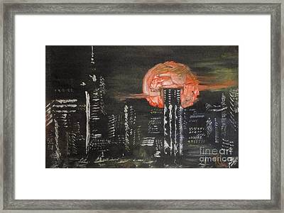 Skyrise Moon Framed Print by PainterArtist FIN