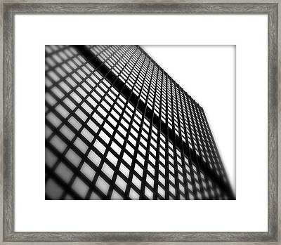 Skyscraper Facade Framed Print by Valentino Visentini