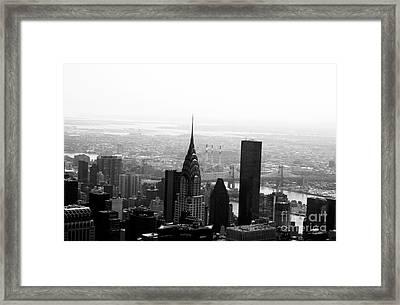 Skyscraper Framed Print by Linda Woods
