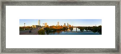 Skyscrapers In A City, Lamar Street Framed Print by Panoramic Images