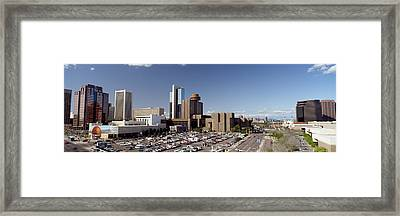 Skyscrapers In A City, Phoenix Framed Print by Panoramic Images