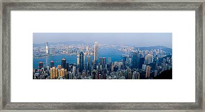 Skyscrapers In A City, Victoria Framed Print by Panoramic Images