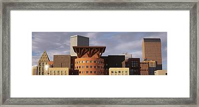 Skyscrapers In The City, Denver Framed Print by Panoramic Images