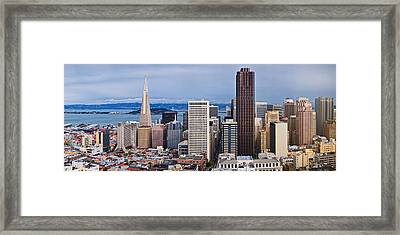 Skyscrapers In The City Framed Print by Panoramic Images