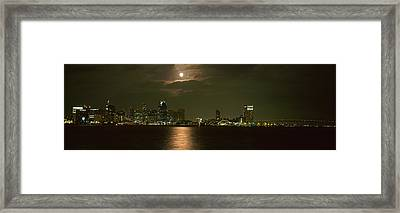 Skyscrapers Lit Up At Night, Coronado Framed Print by Panoramic Images