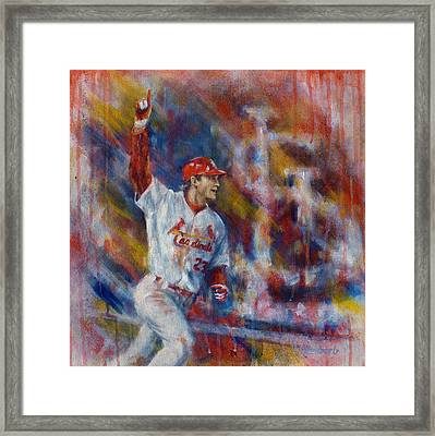 Freese Game 6 Framed Print by Josh Hertzenberg