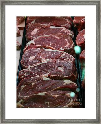 Slabs Of Raw Meat - 5d20691 Framed Print by Wingsdomain Art and Photography