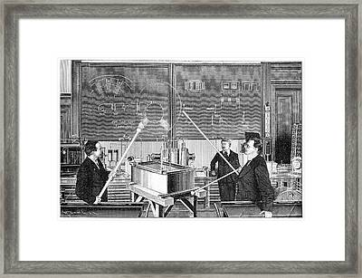 Slaby's Electrotechnical Laboratory Framed Print by Science Photo Library