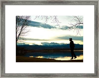 Slackline Yoga 2 Framed Print by James BO  Insogna