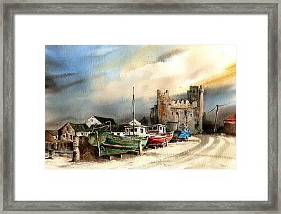 Wexford  Slade Castle Framed Print by Val Byrne