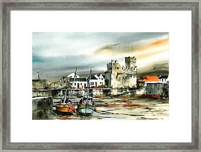 Slade Harbour Wexford Framed Print by Val Byrne