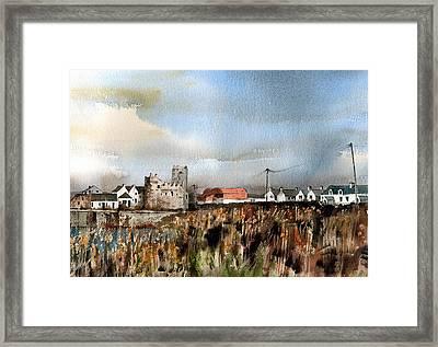 Wexford  Slade Village  Framed Print by Val Byrne