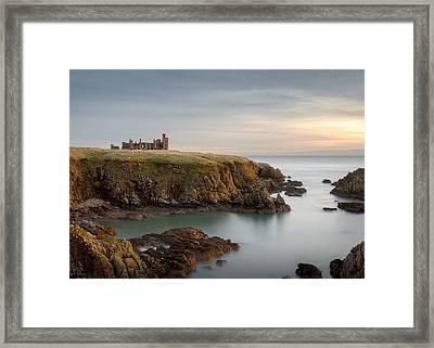 Slains Castle Sunrise Framed Print by Dave Bowman