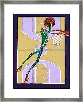 Slam Dunk Framed Print by John Lautermilch