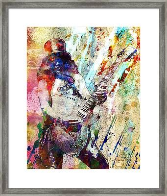 Slash Original  Framed Print by Ryan Rock Artist