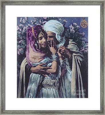 Slave To Love Framed Print by Alphonse Etienne Dinet
