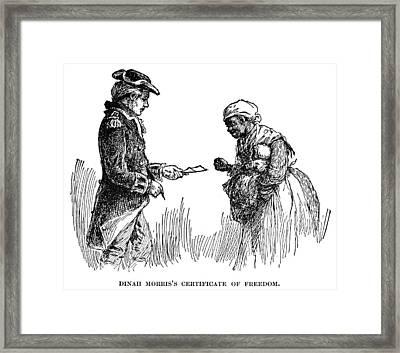 Slavery: Manumission, 1777 Framed Print by Granger