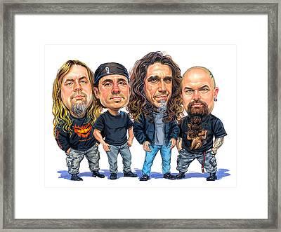 Slayer Framed Print by Art