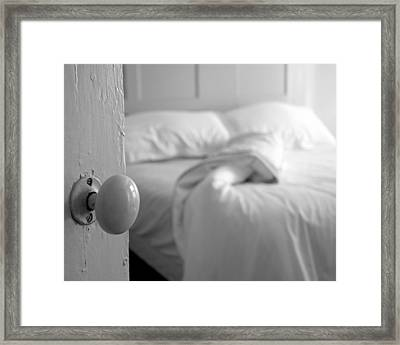 Sleeping Alone - Black And White Framed Print by Brooke T Ryan