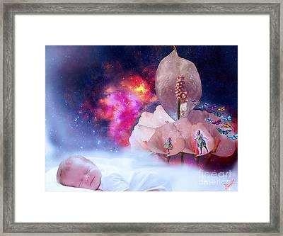 Real Little Baby Dream Framed Print by Artist Nandika  Dutt
