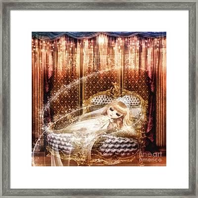 Sleeping Beauty Tale Framed Print by Mo T
