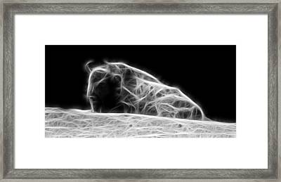 Sleeping Bison Fractal Framed Print by Pati Photography