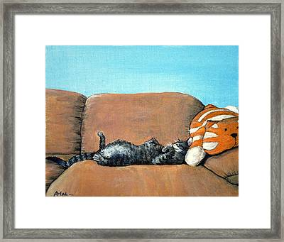 Sleeping Cat Framed Print by Anastasiya Malakhova