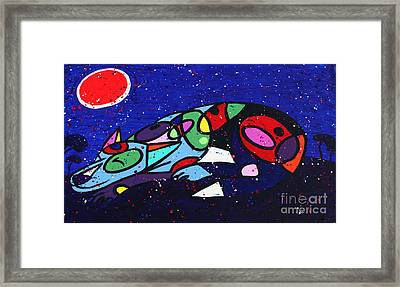Sleeping Dog Framed Print by Chris Mackie